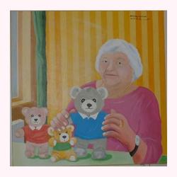 Bärenmutter 80 x 80 cm, 12.2009