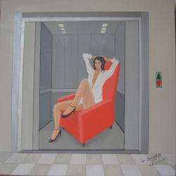 Im Sessellift, 100 x 100 cm, 5.2007