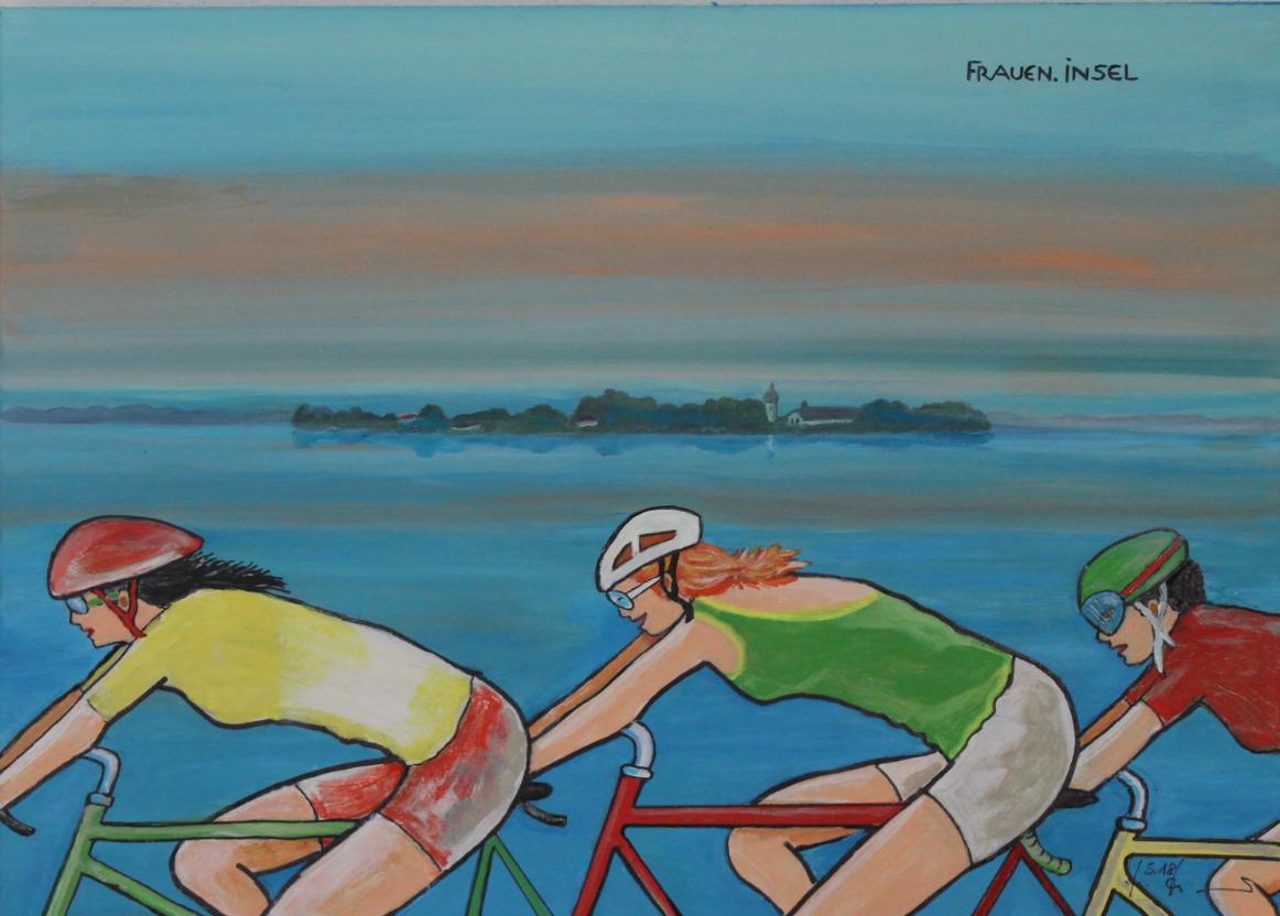 Frauen.Insel Rennradlerinnen