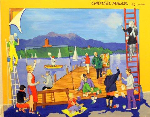 Chiemsee Maler 100 x 80cm, 11/16