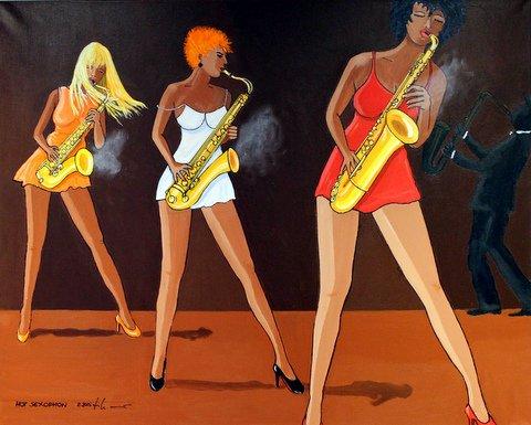 Hot Sexophon 100 x 80 cm, 01.2015