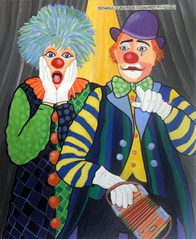 Schau..lauter Clowns! 65 x79cm,10/15