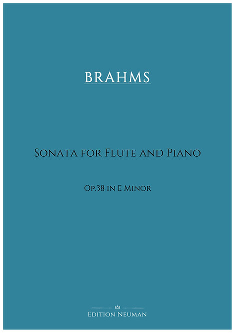 Brahms Sonata Op.38 for flute and piano
