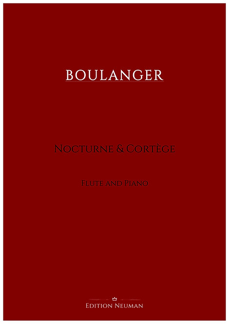Boulanger Nocturne & Cortège for flute and piano