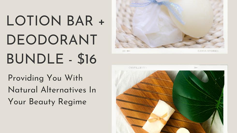 Lotion Bar + Deodorant Bundle