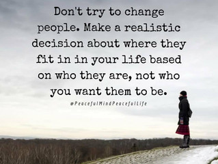 Don't Try to Change People