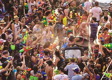 Songran festival of Thailand