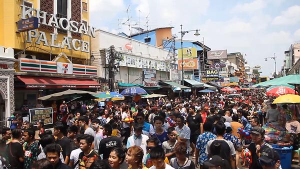 Songran festival in Thailand