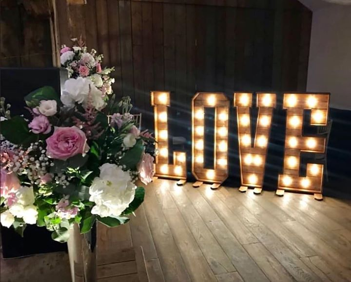 Bespoke Light Up LOVE Letters