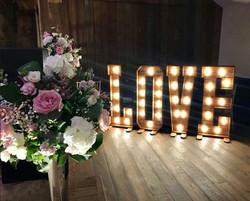 Bespoke Light Up LOVE Letters