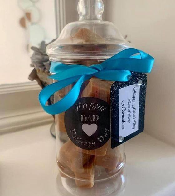 Personalised Fudge Jars (in all flavours)  £5.50 each