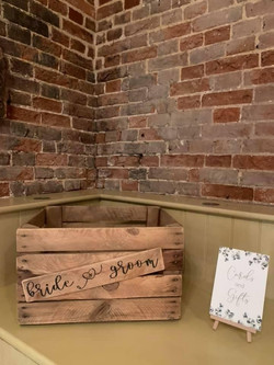 Bride and Groom Crate
