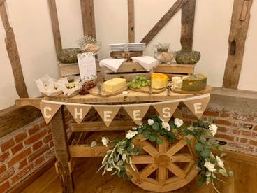 Rustic Cheese Cart at Bruiseyard Country Estate