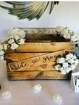 RUSTIC BRIDE AND GROOM POST BOX