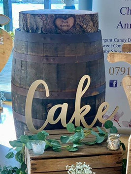 WHISKEY BARREL HIRE AND CAKE STAND HIRE