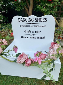 WHITE DANCING SHOES CRATE