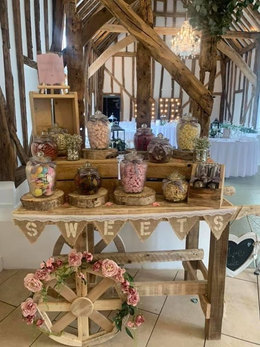 RUSTIC CANDY CART