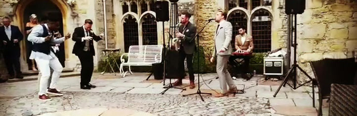 Ross performing with Olly Murs, Brendan and Jamie at a gorgeous wedding! Beautiful wedding music entertainment.