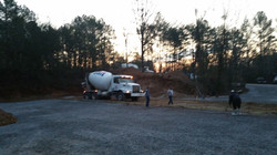 Started pouring concrete