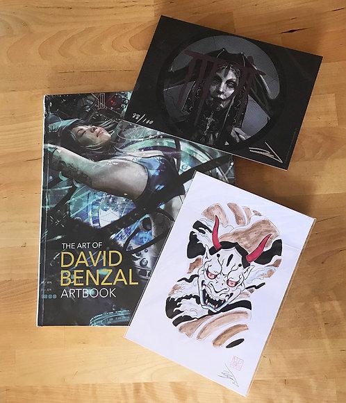 THE ART OF DAVID BENZAL + DIBUJO ORIGINAL + LÁMINA FIRMADA DINA5