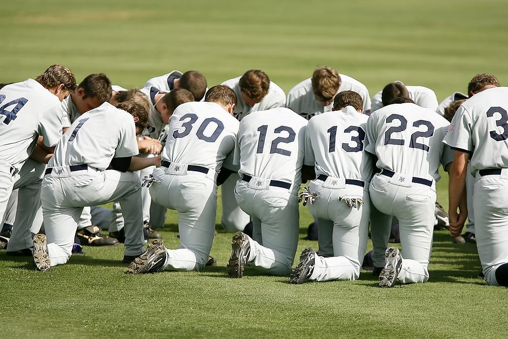 Baseball team. Business team spirit for organisations. Website management agency