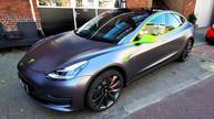 Tesla Model 3 wrap satin dark grey