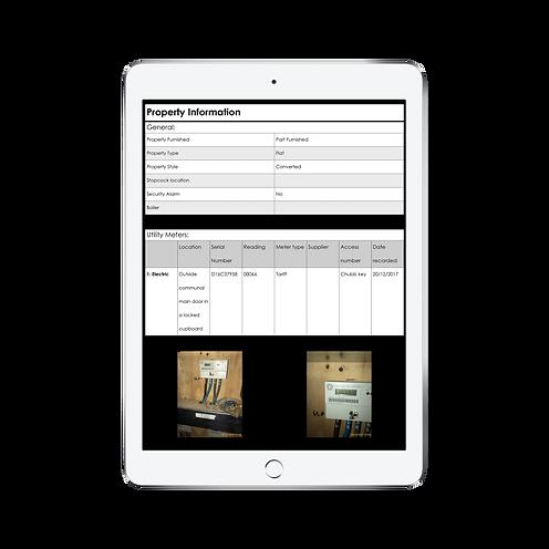 iPad property inventory report