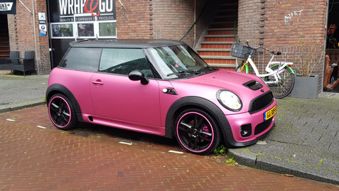 Alloygators Roze Mini Cooper