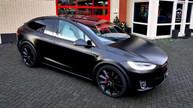 Tesla Model X car wrap 3M Satin black