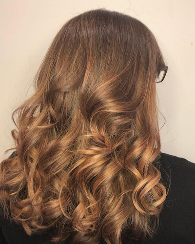 Swipe to see the before. Balayage and to
