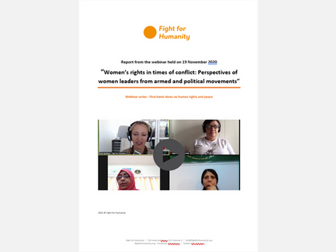"""Webinar Report: """"Women's rights in times of conflict"""""""