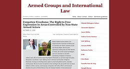 Forgotten Freedoms: The Right to Free Expression in Areas Controlled by Non-State Armed Actors