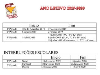Horário Escolar 2019-2020