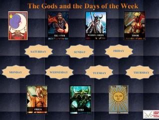 Os Deuses e os dias da semana