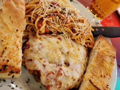 Chicken Parmigiano at PiZmo's