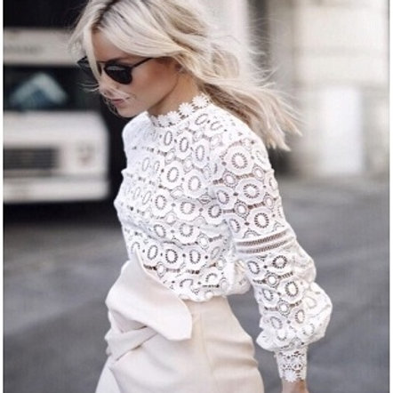 Flowered Lace Blouse