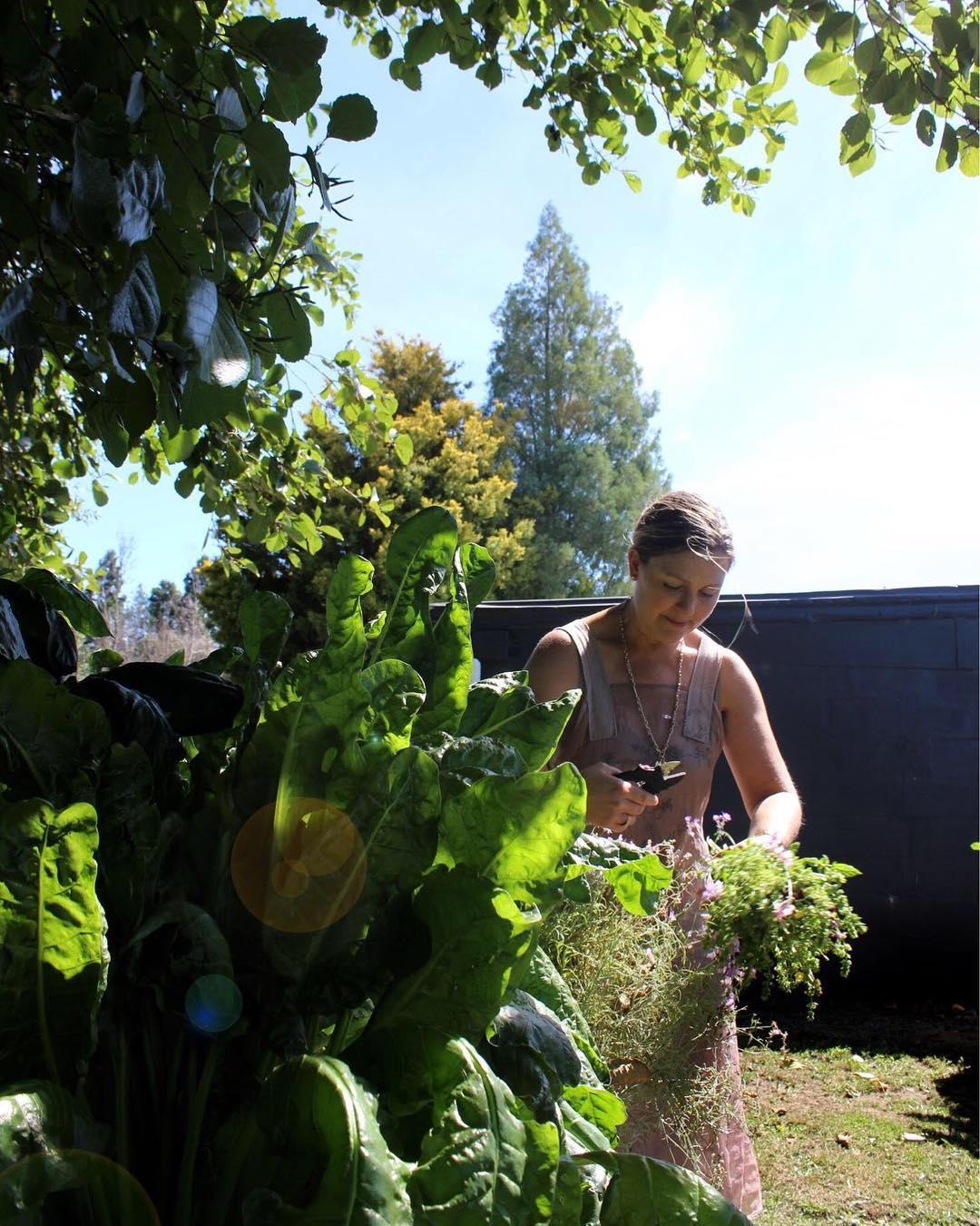 Amanda gardening