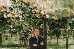 Amanda under the vines
