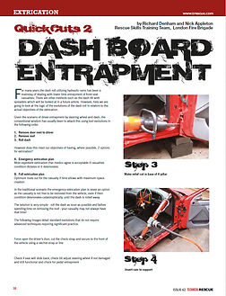 vehicle extrication - dash relocation entrapment