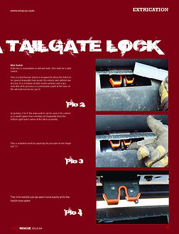 defeating a tailgate lock