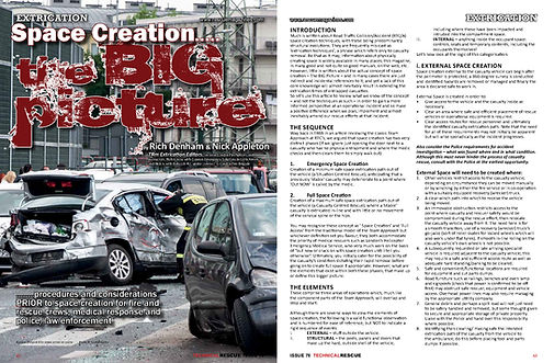 space creation - vehicle rescue - london fire brigade