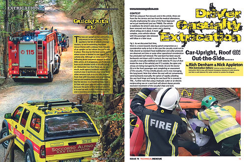 Driver extrication - casualty extraction