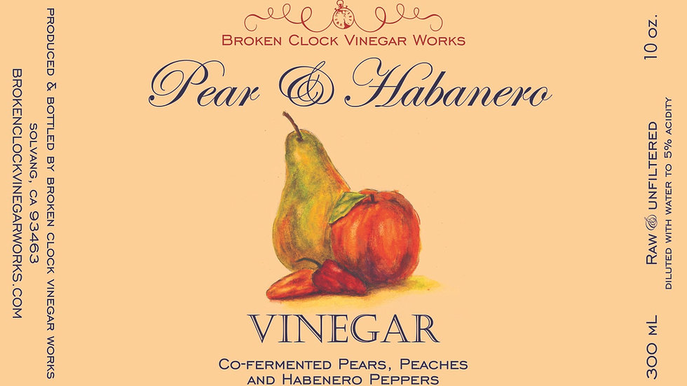 Pear & Habanero Vinegar 300mL
