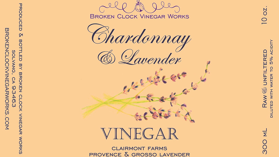 Chardonnay Lavender Vinegar 300mL