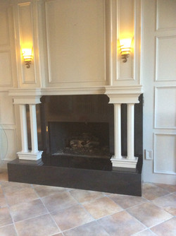 Fireplace and Living Room Floor