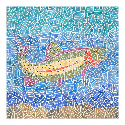 'Cutbow Trout' print