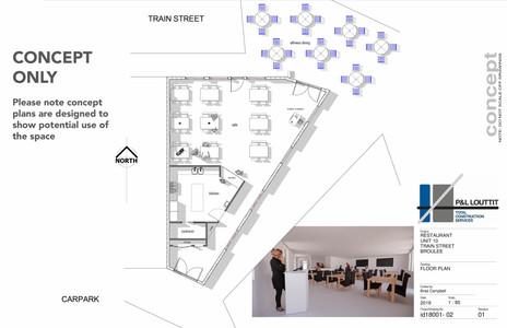 Train Street Central Broulee, Restaurant concept plan