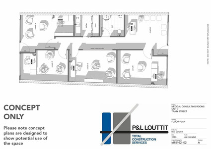 Train Street Central Broulee, Medical rooms concept plan
