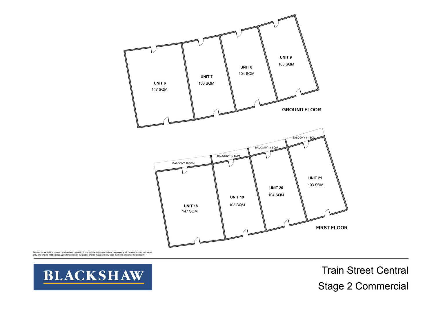 Train Street Central Commercial Stage 2 Floor Plans