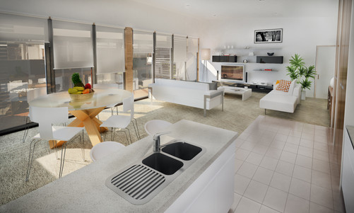 Train Street Central Broulee residential units, interior artist impression